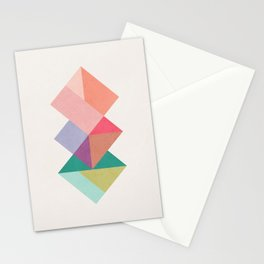 Squares interlaced Stationery Cards
