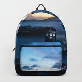 Tardis On The Sea Stone Backpack