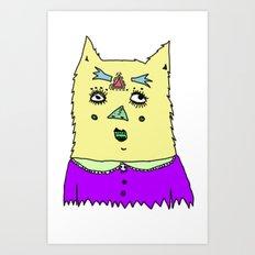 gato magico#3 Art Print