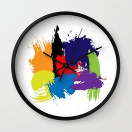 Artistic Brush Strokes Wall Clock