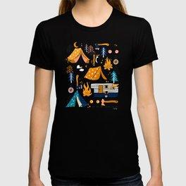Camping Kit – Orange & Blue T-shirt