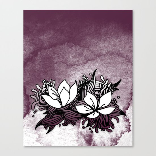 Flower Tangle Canvas Print