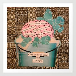 brain wash Art Print