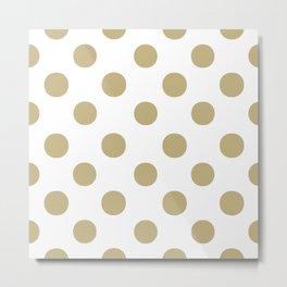Polka Dots (Sand/White) Metal Print