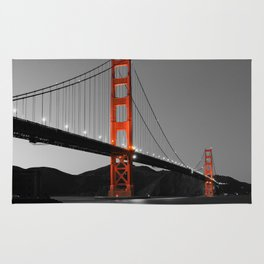 Golden Gate Bridge in Selective Black and White Rug
