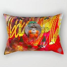 Save orangutans Rectangular Pillow