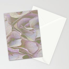 FADED HYDRANGEA CLOSE UP Stationery Cards