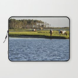 Chincoteague Ponies on Assateague Island Laptop Sleeve