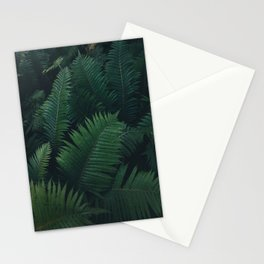 Dark Fern Leaves Stationery Cards