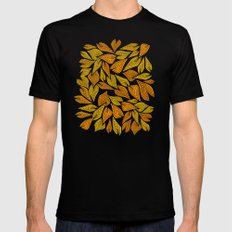 Autumn Night Mens Fitted Tee MEDIUM Black