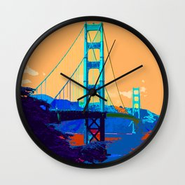 Golden_Gate_Bridge_010 Wall Clock
