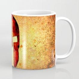 Spartan Helmet On Rust Background - Molon Labe Coffee Mug