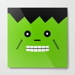 Kids Frankenstein Face Digital Design Print Metal Print
