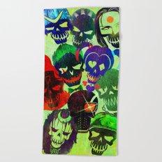 Suicide Squad Skulls Beach Towel