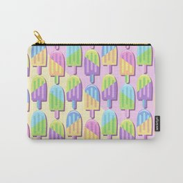 Ice Lollipops Popsicles Summer Punchy Pastels Colors Pattern Carry-All Pouch