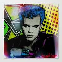 butcher billy Canvas Prints featuring BILLY  by AZZURRA DESIGNS