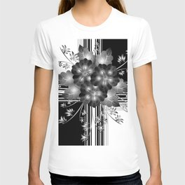 Gift wrapping with abstract flowers T-shirt