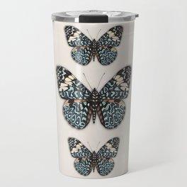 Blue Cracker Butterfy. Travel Mug