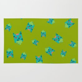 Green Turtle or Toad? Rug