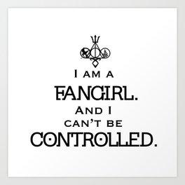 Uncontrollable Fangirl with Fandom Symbol Art Print