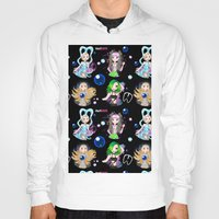 artrave Hoodies featuring #artRAVE Pattern by Aldo Monster