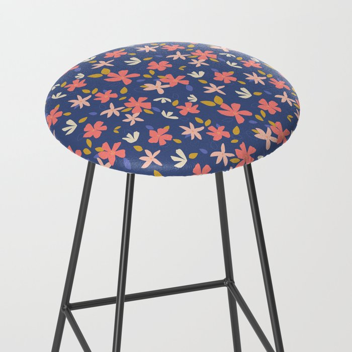 Dancing Florals Bar Stool