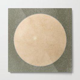 Vermont Moon Minimalism Moss Green Beige Metal Print
