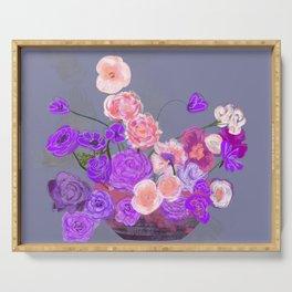 The arrangement in purple Serving Tray