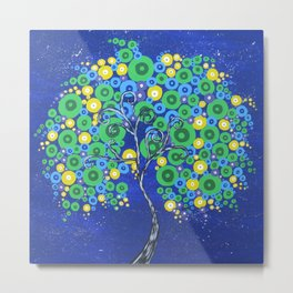 Peacock Tree of Life Metal Print