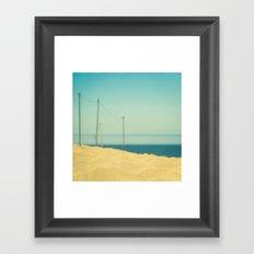 Beach Fence Framed Art Print