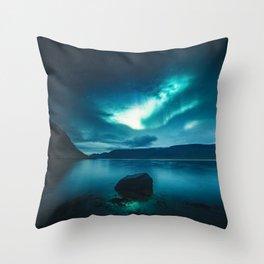 Aurora Borealis (Northern Polar Lights) Throw Pillow