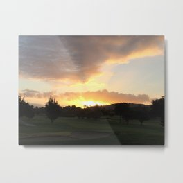 View at Golf Course - Pebble Beach Metal Print