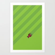 Cutting The Grass Art Print