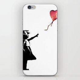 Banksy cosmic balloon iPhone Skin