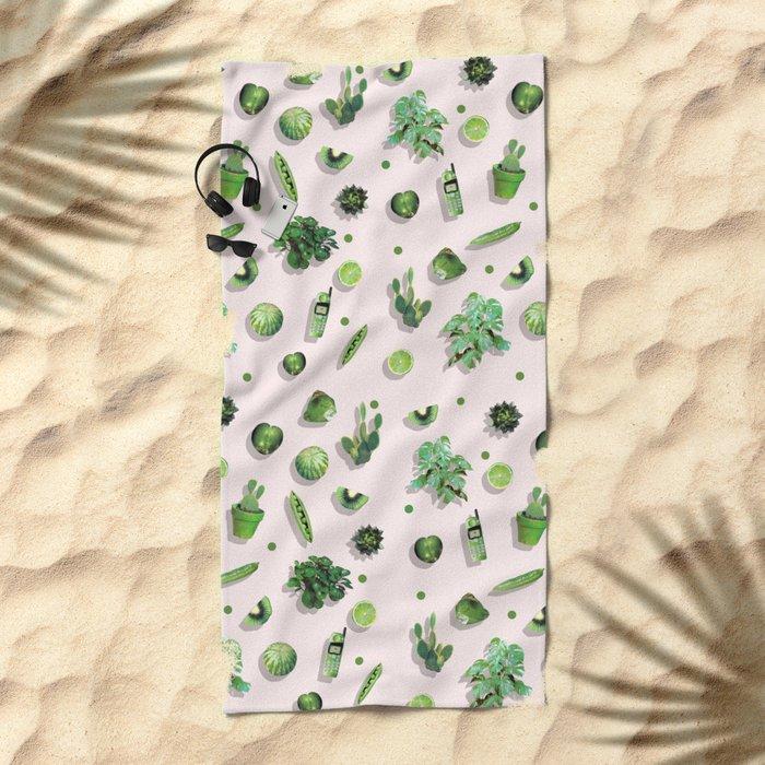 GREENERY Beach Towel