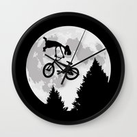 et Wall Clocks featuring ET tailwhip by le.duc