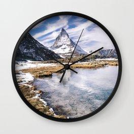 Icy Matterhorn Wall Clock