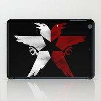 infamous iPad Cases featuring Infamous: Second Son - Jacket Bird Logo (Distressed) by Dsavage94