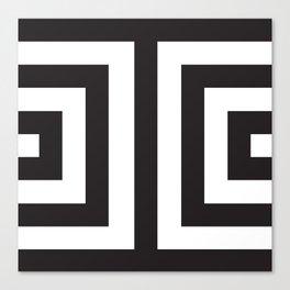 Black Greek Stripes Canvas Print