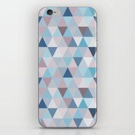 Mauve Blue Small Triangles iPhone Skin