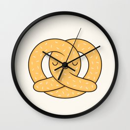 Happy Pretzel Wall Clock