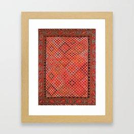 Afshar Kerman South Persian Cover Print Framed Art Print