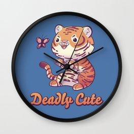 Deadly Cute Tiger Wall Clock