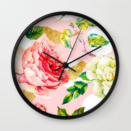 Blooming in spring Wall Clock