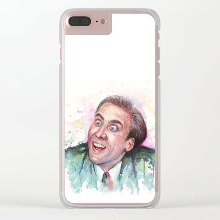 Nicolas Cage You Don't Say Geek Meme Nic Cage Clear iPhone Case