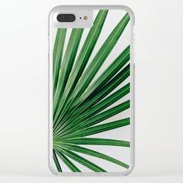 Palm Leaf Detail Clear iPhone Case