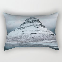Iceland Mountain Reflection - Landscape Photography Rectangular Pillow