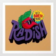 Radish Art Print