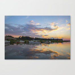 Sunset on Jones Creek Canvas Print