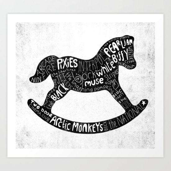 Rockinghorse Art Print